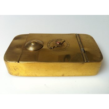 Antique 1840 Single dial puzzle box in brass.