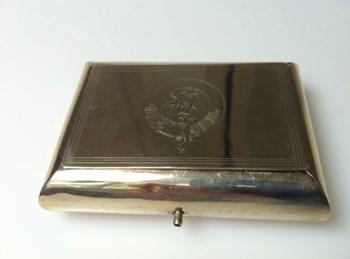 Antique Nickel silver 1880 puzzle snuff box.