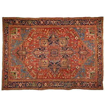 Antique Persian Heriz - Oriental rug