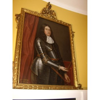 FINE LATE 17TH CENTURY OIL PORTRAIT PAINTING OF MR. GIBSON.