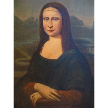 18TH CENTURY MONA LISA OLD MASTER PORTRAIT PAINTING OIL ON CANVAS.