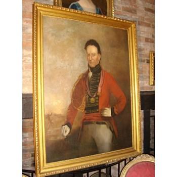 LATE 18TH CENTURY OIL PORTRAIT OF MAJOR SIR CHARLES SHIPLEY (1755-1815).