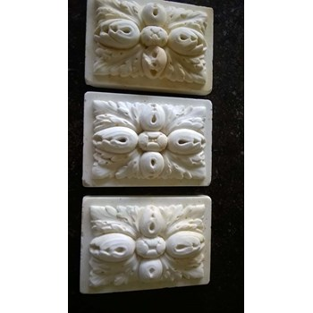 Three carved Marble panels