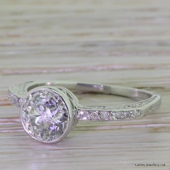 "Edwardian 1.51 Carat Old Cut Diamond ""Filigree"" Engagement Ring, circa 1910"