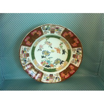 """Absolutely stunning Ashworth """"IMARI"""" pattern hand painted dinner plate from 1862-1890"""