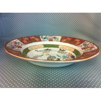 """Absolutely stunning Ashworth """"IMARI"""" pattern hand painted large rimmed bowl from 1862-1890."""