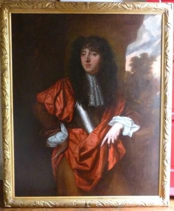 Portrait of William, 9th Earl of Derby(?) c. 1673, by Joseph Buckshorn.