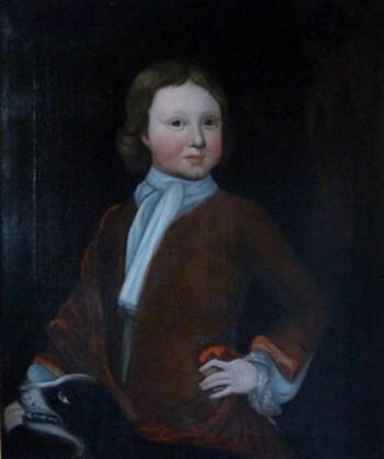 Portrait of a Boy and Dog c.1740: English School.
