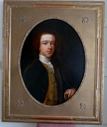 Portrait of a Young Gentleman of the Blunt family c.1750, Follower of Thomas Hudson.