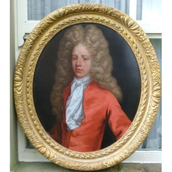 Portrait of a Young Man in Red c.1720: Attributed to Hans Hysing