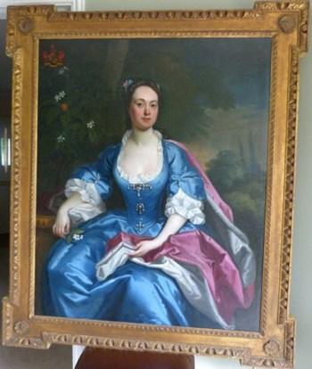 Portrait of Elizabeth, Duchess of Marlborough c.1730: Attributed to Maria Verelst.