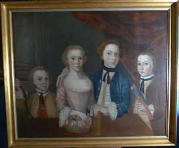 Naive Portrait of a Family c.1780.