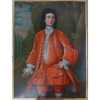 Portrait of a Boy in Red c.1720: Follower of John Verelst.