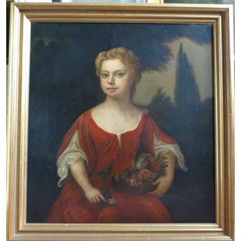Portrait of a Girl in Red c.1710; Follower of Kneller.