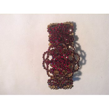 Bohemian garnet bracelet.