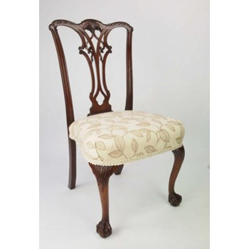 Antique Edwardian Chippendale Revival Chair with Label