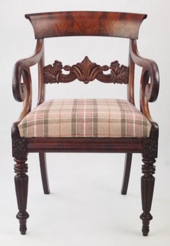 William IV Mahogany Armchair / Desk Chair Circa 1830