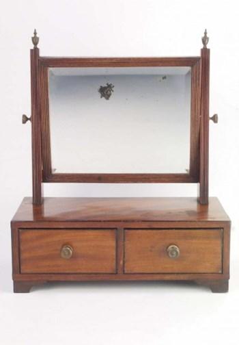 Small Antique Regency Dressing Table Mirror