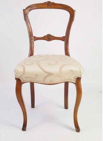 Antique Victorian Balloon Back Chair