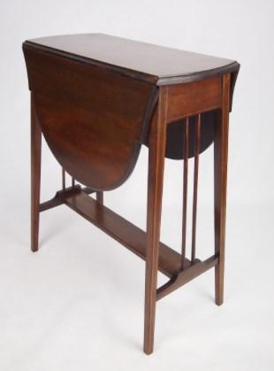Antique Edwardian Mahogany Twist-Top Sutherland Table