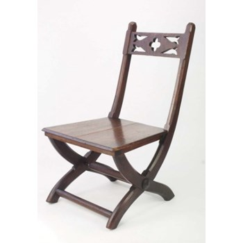 Antique Victorian Gothic Revival Hall Chair