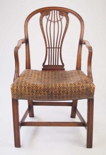 Handsome Antique George III Desk Chair