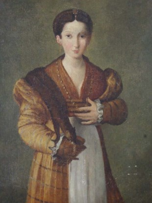 Portrait of a Young Lady After Parmigianino (1503/4-40)