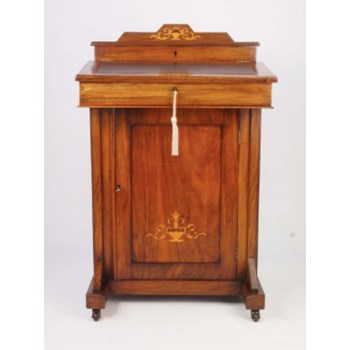 Late Victorian Walnut and Inlaid Davenport