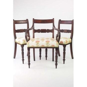 Set 3 Antique Mahogany Regency Chairs