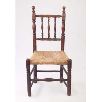 Antique Ash Rail Back Side Chair