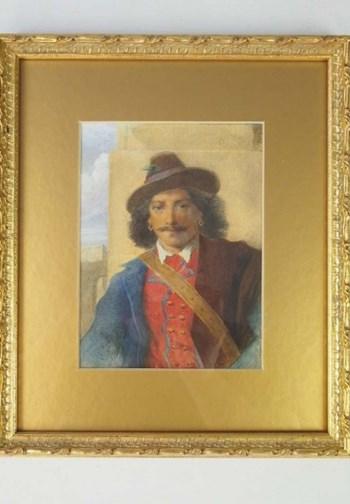 Small 19th Century English School Watercolour of a Gentleman