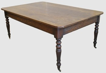 Victorian Oak Dining Table