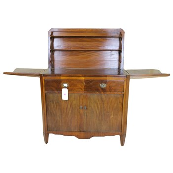 Continental Mahogany Writing Cabinet