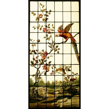 French Leaded & Hand Painted Window