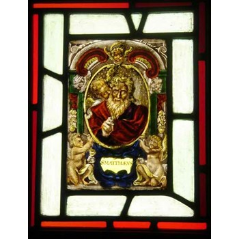 Original 17th Century Antique Stained Glass Panel