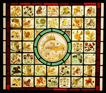 Victorian stained glass - Aesthetic Movement ~ Arts & Crafts By John Moyr Smith 1839 - 1912.