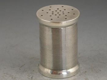Victorian novelty silver Cotton Reel Pepper - S Mordan & Co, London, 1882