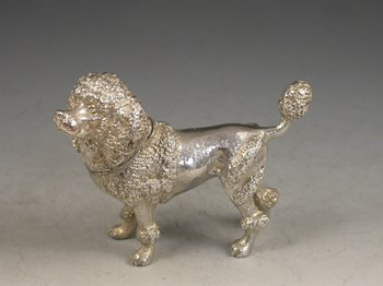 Victorian Novelty Silver Poodle Pepper 1906