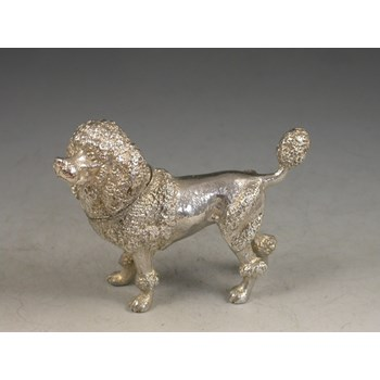 Victorian Novelty Silver Poodle Pepper 1906
