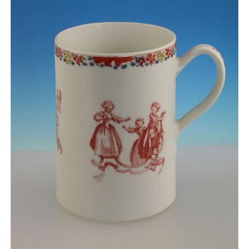 BOW CHILDRENS GAMES MUG BOW PORCELAIN c1755 - 1756