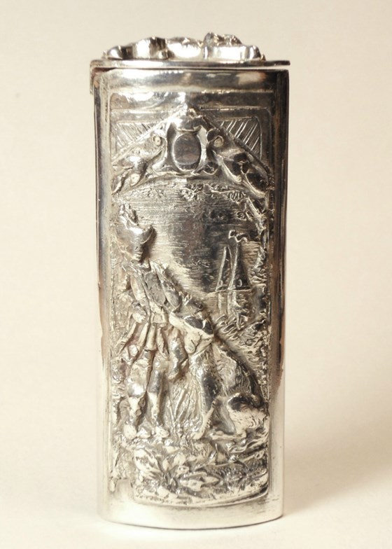 Lovely Victorian/Edwardian Silver Plated French Vesta Case.
