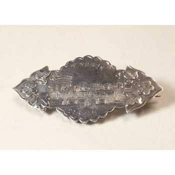 "Birmingham 1898. Rare Victorian Sweetheart Brooch, ""Windsor Castle"""