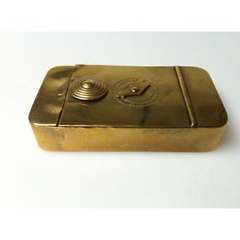 Antique 1820 brass I dial puzzle box.