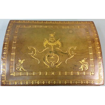 French Gilded Leather Table Box, c.1880.