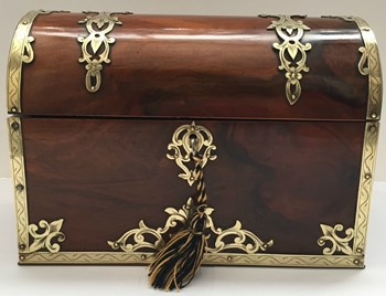 Dome Top Stationary Box – Brass Inlaid, c.1850