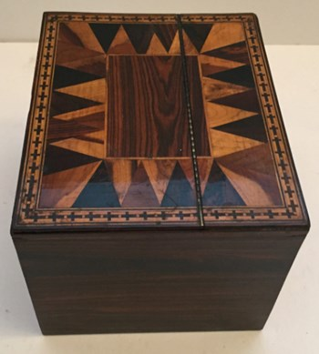 Tunbridge Ware Tea Caddy, c.1820