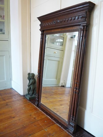 Huge Henri II Style Antique French Mirror