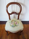 Pair of French Antique Balloon Back Needlepoint Salon Chairs