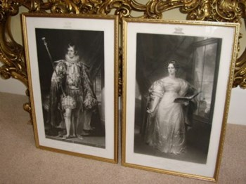 PORTRAITS OF DUKE AND DUTCHESS OF RUTLAND.
