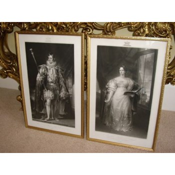 PORTRAITS OF DUKE AND DUTCHESS OF RUTLAND.